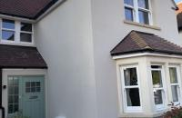 new composite front door externally insulated walls